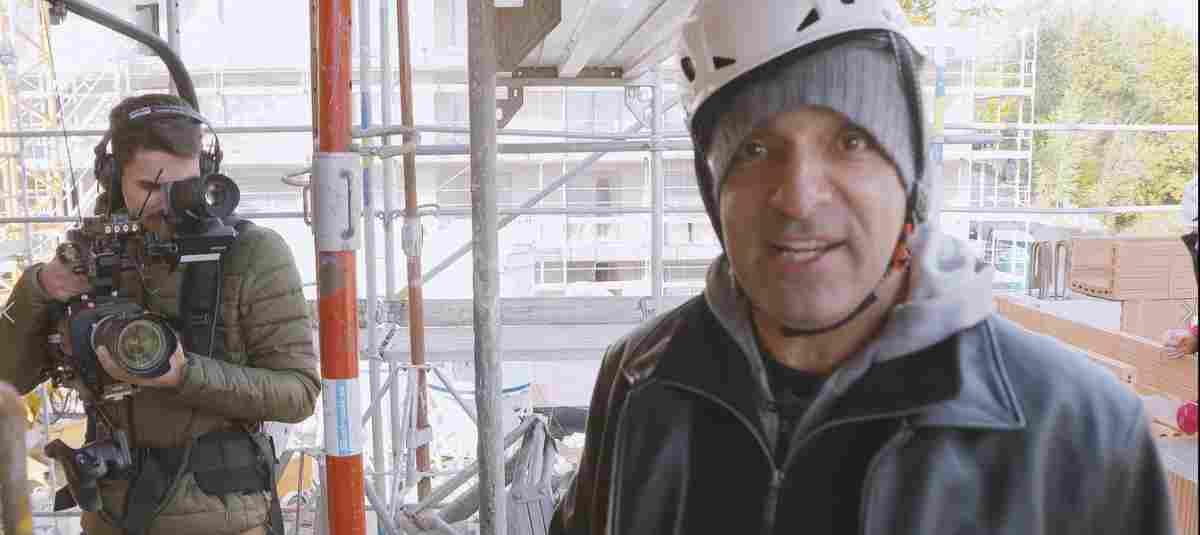 Auf der Baustelle: Dreharbeiten mit Django Asül folgen eigenen Gesetzen
