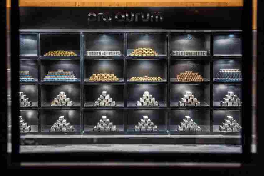 Edle Metalle lagern im Münchner Goldhaus von pro aurum