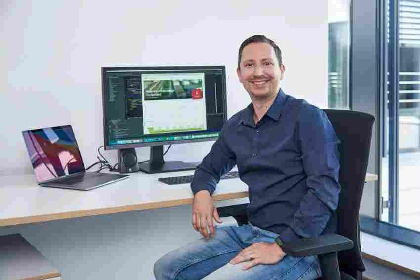 Markus Perl hat mit seinem Team das Mietportal für die Studentenwohnanlage i ...